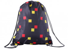 Sac sport LEGO Faces - Negru (10034-2007)