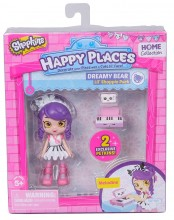 Shopkins Happy Places Seria 1 - Pachet cu Figurina Melodine, Moose 56322