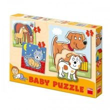 Baby puzzle-uri - Animale (3-5 piese)