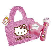 Geanta cu microfon si amplificator Hello Kitty