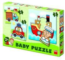 Set de puzzle-uri – Vehicule (3-5 piese)