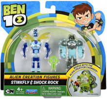 BEN 10 MINI FIGURINE EXTRATERESTRE MIX & MATCH (2 BUC) - Stinkfly & Shock Rock