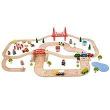 Circuit auto si feroviar (80 piese)