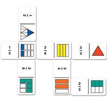 Curcubeul fractiilor - domino