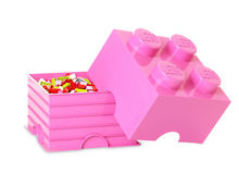 Cutie depozitare LEGO 4 roz