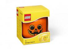 Cutie depozitare S cap minifigurina LEGO - Dovleac