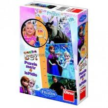Puzzle cu masuratoare - Frozen (150 piese)