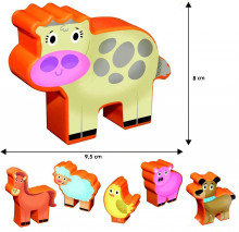 Puzzle de podea - Distractie la ferma (12 piese)
