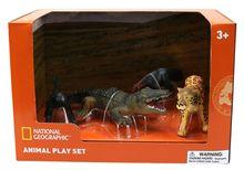 Set 4 figurine - Furnicar, Crocodil, Leopard si Maimuta