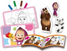 Set de colorat - Ne distram cu Masha si Ursul