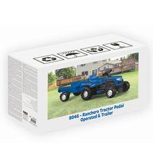 Tractor cu remorca - albastru