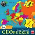 Puzzle geografic - Harta Europei (58 piese)