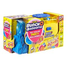 BUNCH O BALLOONS SET PARTY BALLOONS 16 BALOANE SI POMPA - BLUE