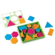 Forme geometrice cu sablon - Learning Resources