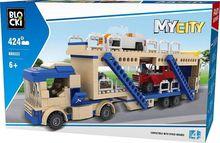 Joc de constructie My City - Transportor auto (424 piese)