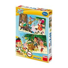 Puzzle 2 in 1 - Jake si piratii (66 piese)