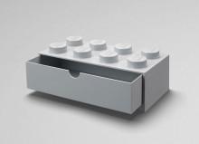 Sertar de birou LEGO 2x4 gri
