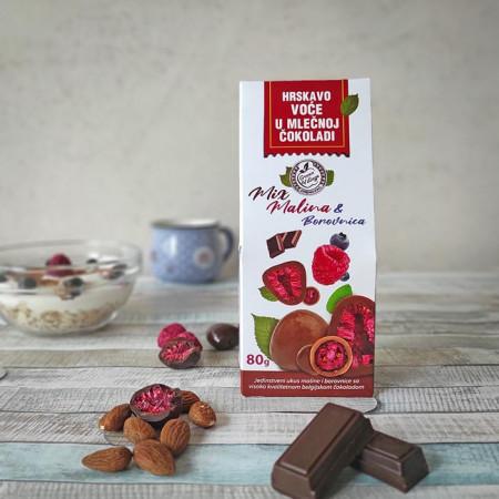 Malina borovnica čokolada