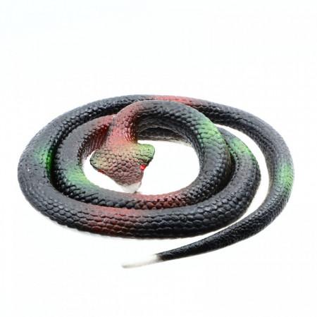 Figurina, Sarpe King Cobra de jucarie, imitatie real, Negru, 80 cm