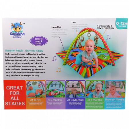 Jucarie interactiva bebelusi, covoras de joaca cu jucarii incluse