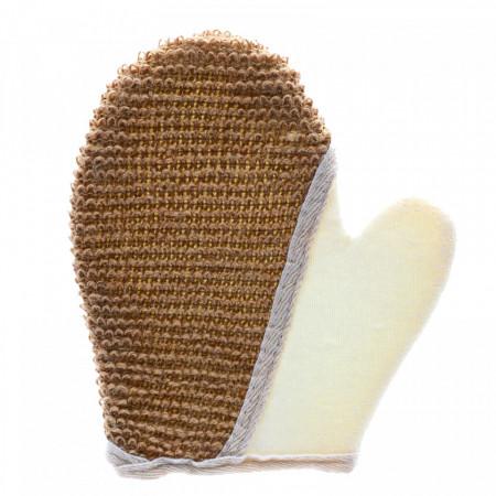 Manusa de baie exfolianta, 18 x 21 cm, Bej