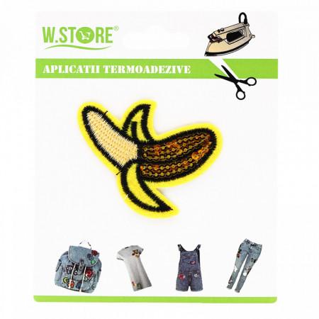 Petic textil / patch brodat, Banana