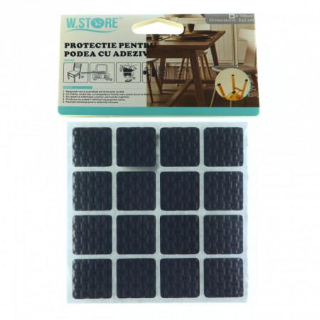 Set 16 bucati, Protectie Antialunecare pentru podea cu adeziv 2x2cm