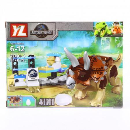 Set de constructie Lego, Gardul dinozaurilor electrificat, 84 Piese