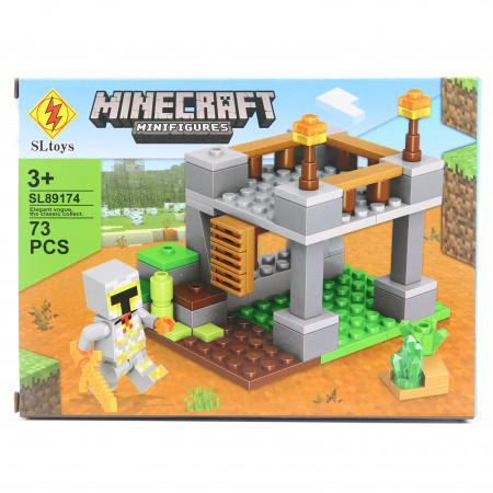 Set de constructie Lego, Marele fort tip Minecraft, 73 Piese