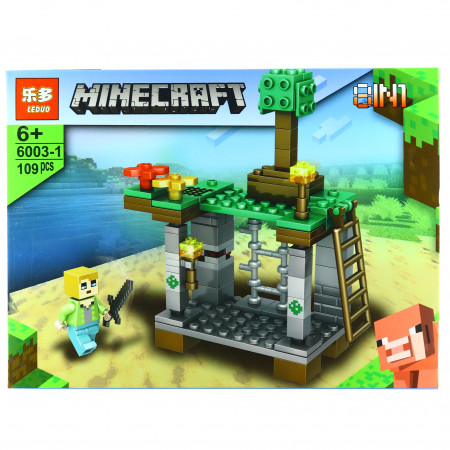 Set de constructie, tip Minecraft, Fortul magic, 109 piese