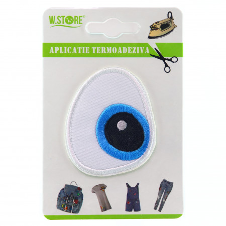 Aplicatie termoadeziva, ochi albastru
