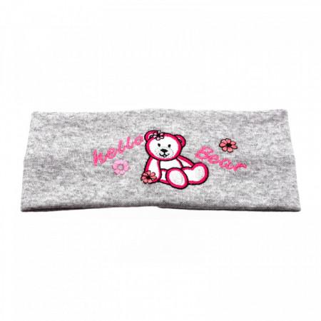 Bentite pentru fete, cu imprimeu ursulet, Gri
