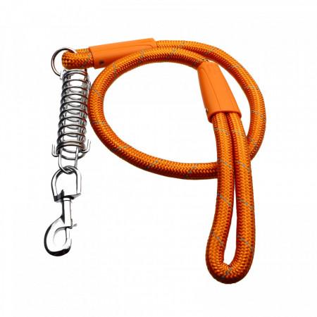 Lesa cu amortizor pentru caini de talie mare, Maro deschis, 120 cm