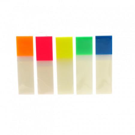 Notite / Index adeziv, 5 culori, 4.5 x 1.2 cm, 125 buc, Multicolor