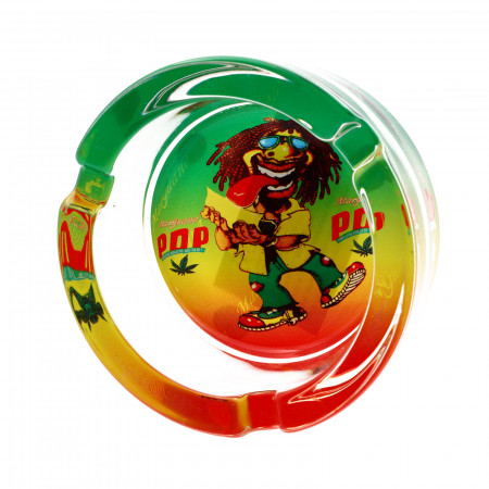 Scumiera din sticla, model PopPop, 8.5 x 3.5 cm, Multicolor