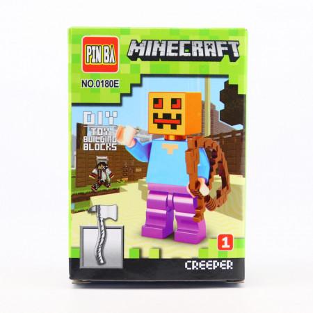 Set de constructie Lego, Creeper tip Minecraft, Figurina