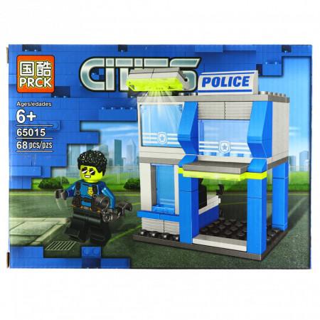 Set de constructie, tip City Police, Statie de politie, 68 piese