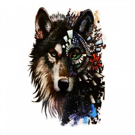 Tatuaj temporar, Lupul abstract, GF955, 14 x 9 cm