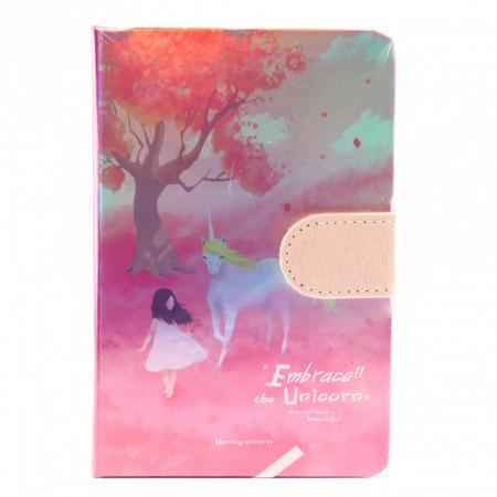 Agenda nedatata Embrace the Unicorn, 9.5 x 14.5cm, 244 file, Roz