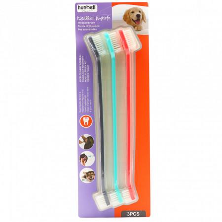 Set 3 periute de dinti pentru animale, Multicolor