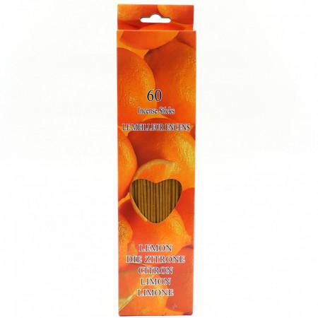 Set 60 buc, Betisoare parfumate, aroma Lemon, 26 cm