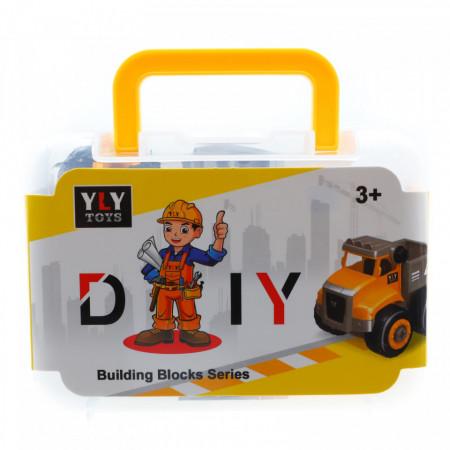 Set de constructie, Betoniera, cutie pentru depozitare, 16 piese