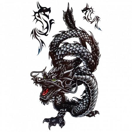 Tatuaj temporar, Dragon, GF230, 16 x 9 cm