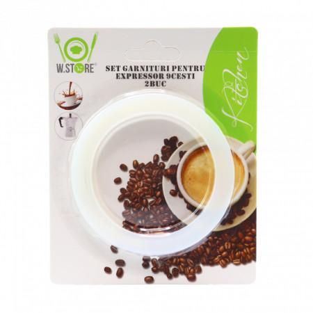 Set 2 garnituri din cauciuc espresso, 9 cesti, 8 cm