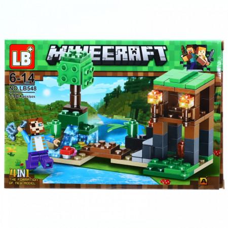 Set de constructie, Lumea Minecraft si tarnacopul cu curent, 110 piese