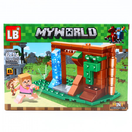 Set de constructie, Minecraft si Portalul catre taramul Elmor, 84 piese