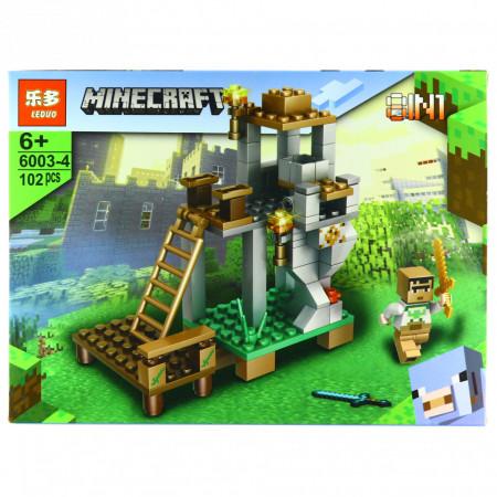 Set de constructie, tip Minecraft, Turnul de paza, 102 piese