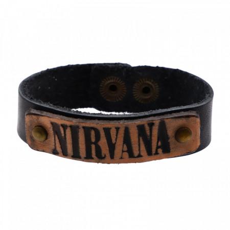 Bratara din piele, Nirvana, 20 x 1,7 cm