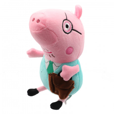 Jucarie de plus, Peppa Pig, Papa Pig, 20 cm, Roz
