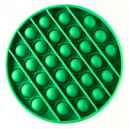 Jucarie Pop it now, Push Bubble, din silicon, antistres, forma cerc, Verde